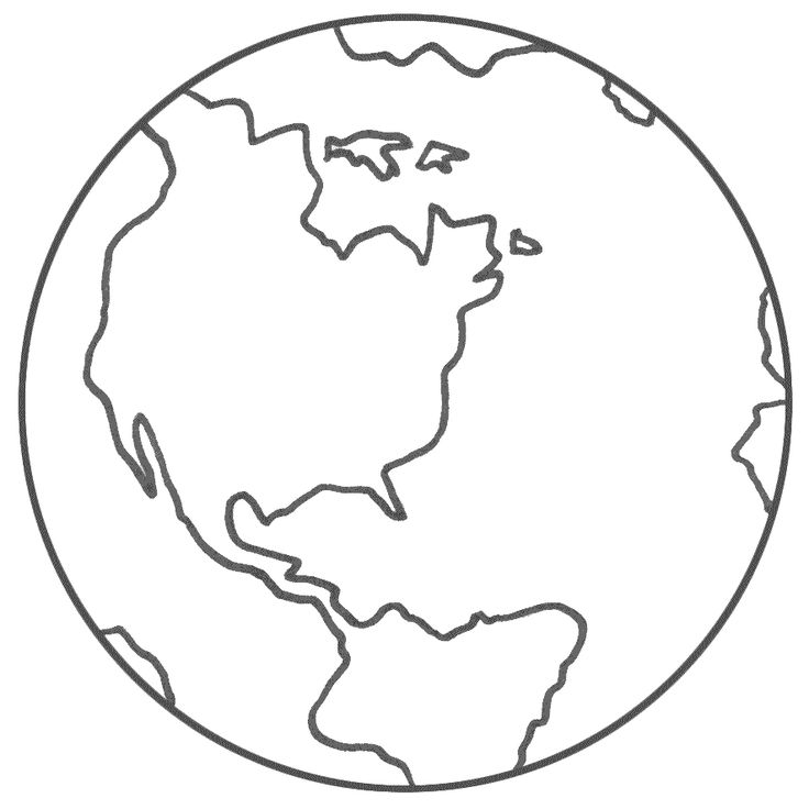 Planet Earth - Coloring Page (Earth Day)