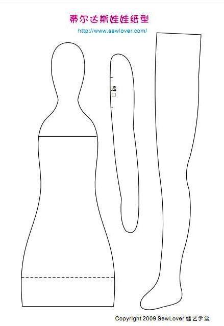 Artesanato e Cia: Como fazer a Boneca Tilda -modelo básico
