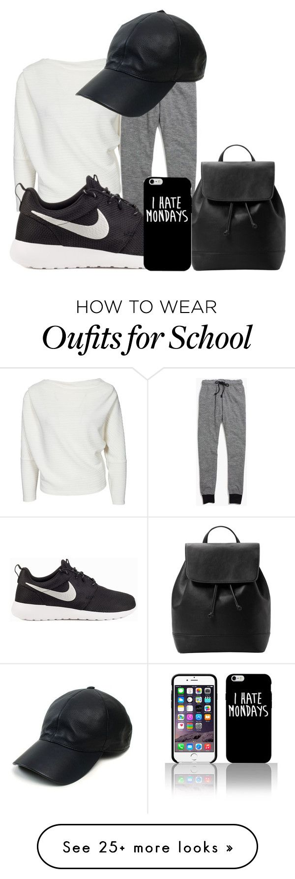 """My school style"" by arazzubair on Polyvore featuring Madewell, NIKE, Vianel, MANGO, women's clothing, women's fashion, women, female, woman and misses"
