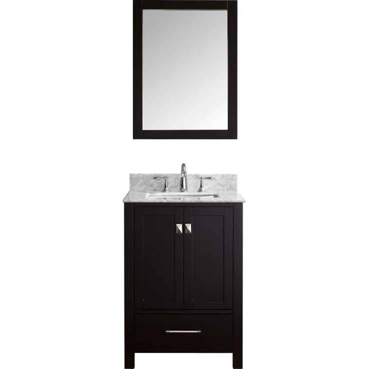 Web Photo Gallery Caroline Avenue Single Bathroom Vanity Cabinet Set in Espresso
