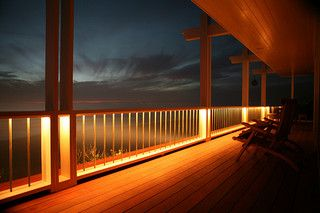 Downward indirect deck lighting