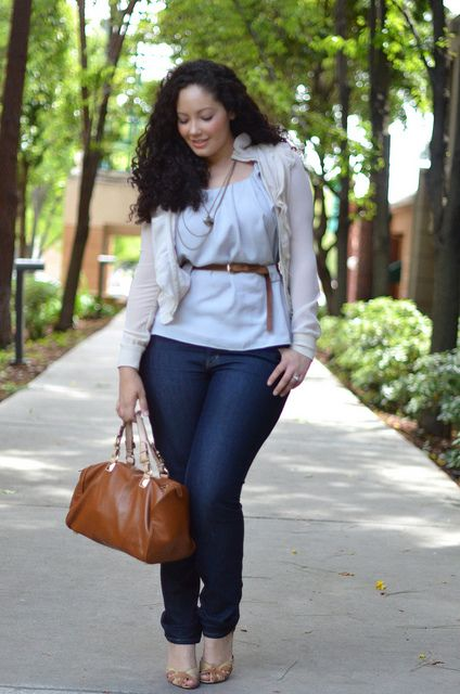 Girl With Curves: Shades of Gray. Not sure whats up with sweater but love the top!