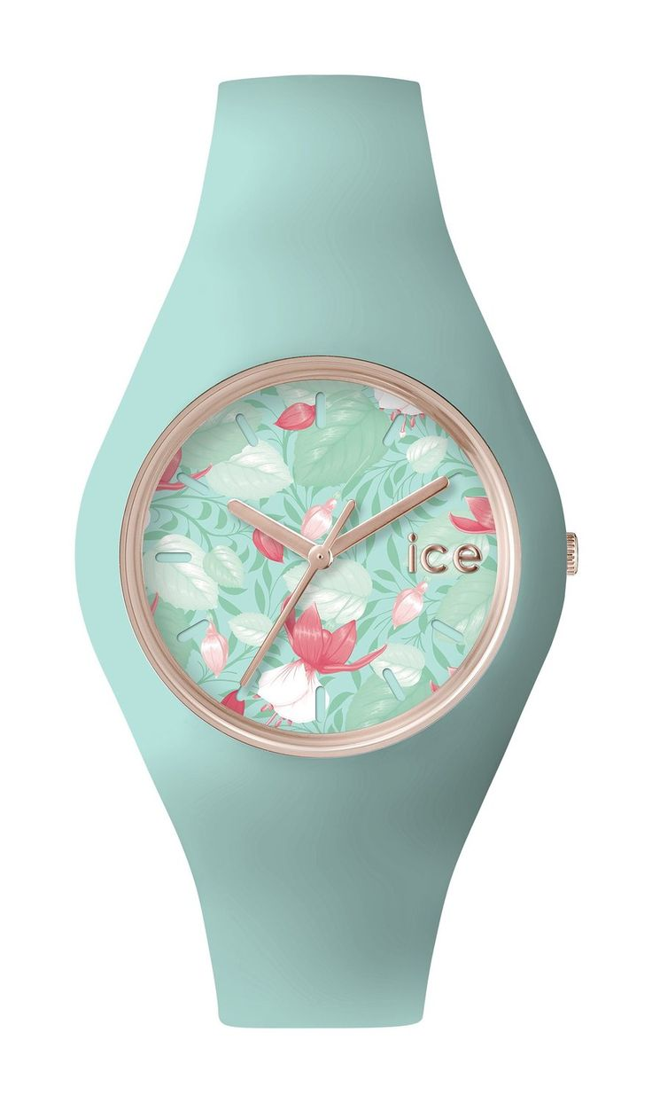 ICE-Watch - ICE.FL.EDE.U.S.15 - Ice Flower - Eden - Montre Femme - Quartz Analogique - Cadran Vert - Bracelet Silicone Vert: Amazon.fr: Montres