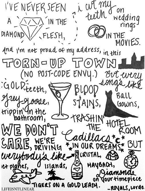 Lorde Lyrics - ROYALS via http://lifeisntlinear.tumblr.com/