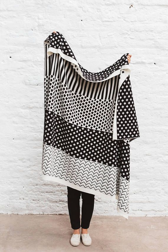 Knitted Wool Blanket, Oversized Blanket, Knit Wool Blanket, Sofa Knit Blanket, Cozy Wool Blanket, Knit Wool Blanket, Large Knit Blanket