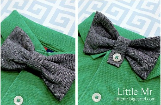 Patent Pending Little Mr. Button on Bow Ties | Find more deals like this at http://www.groopdealz.com/