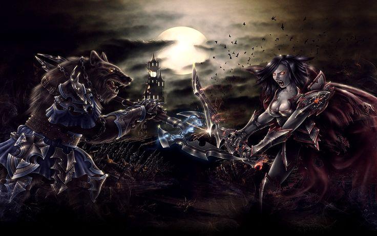 Werewolves Vs. Vampires | Alpha Coders / Wallpaper Abyss / Video Game / Monstersgame / 242354