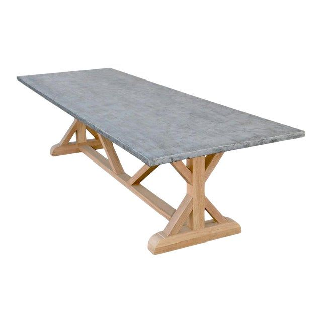 Zinc Top Farm Table Made From Teak In 2020 Outdoor Farm Table Granite Dining Table Farm Table