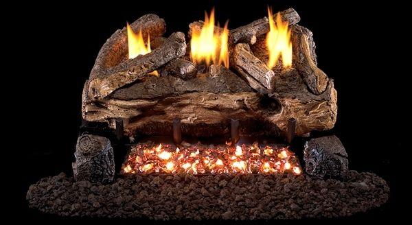 Real Fyre See Thru Evening Fyre Split Ventless Gas Logs Set