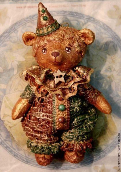 """Елочная игрушка """"Шоколадный мишка"""" - коричневый,мишка,елочная игрушка"""