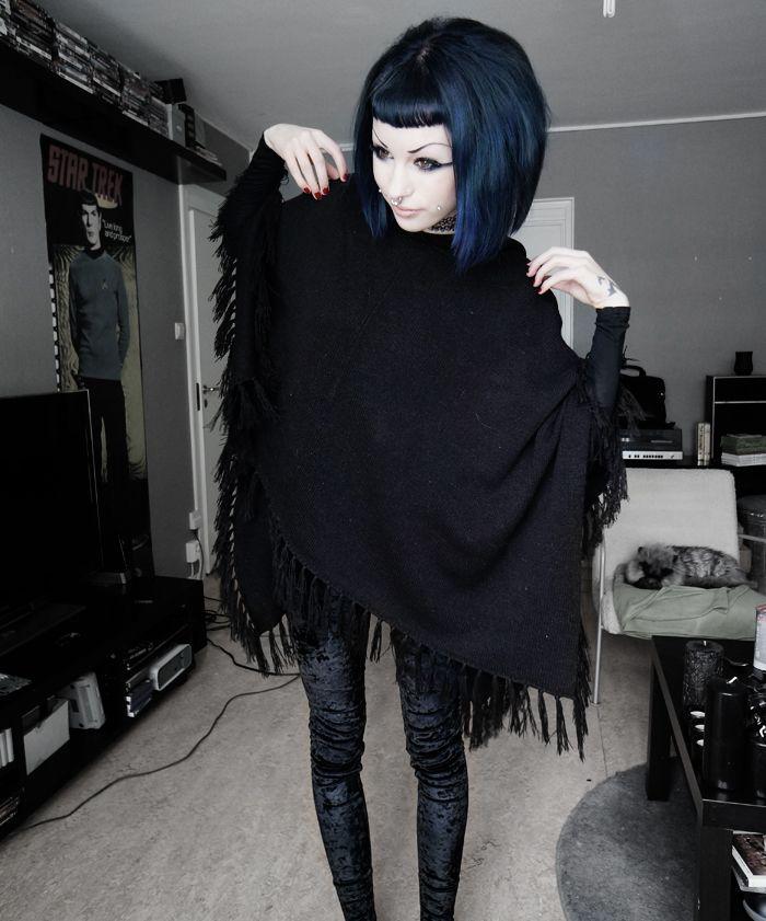 Poncho + Velvet leggings