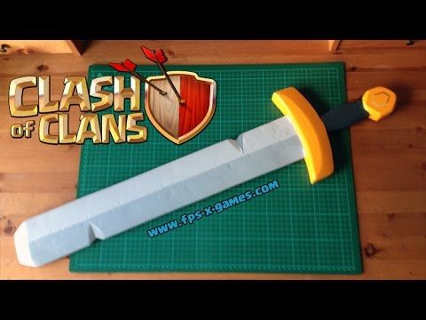 How to Create a Clash of Clans Barbarian King Sword