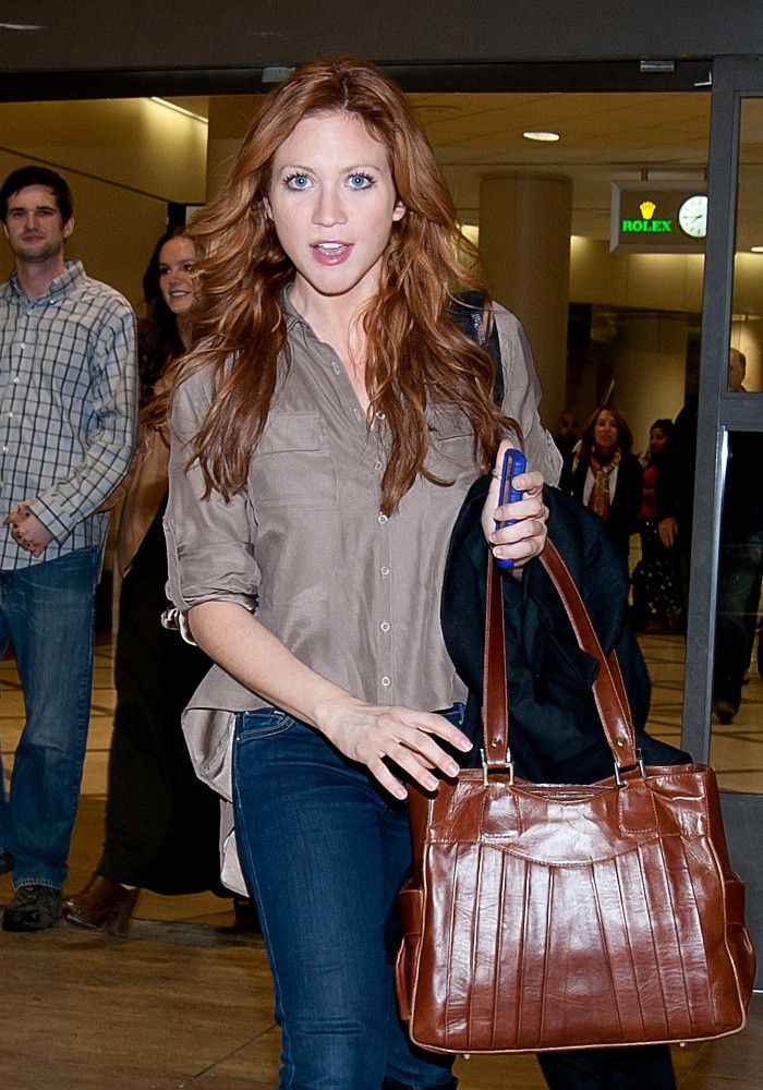 Brittany Snow - Brittany Snow Debuts Red Hair at LAX
