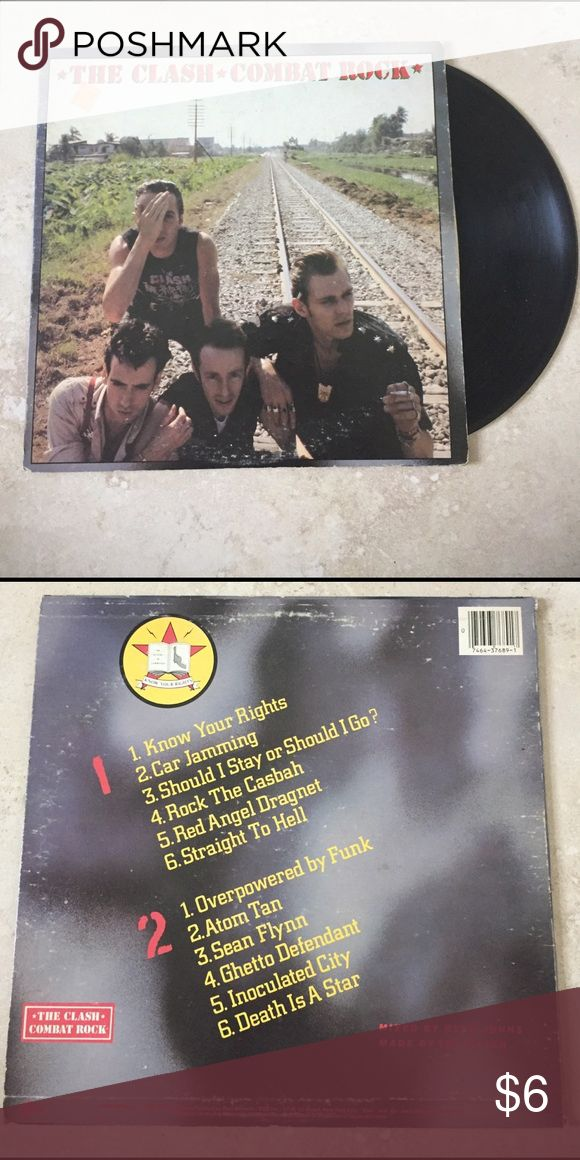 3 FOR $12 😍 The Clash Combat Rock Vinyl Fantastic album, feat one of their greatest songs 'Should I Stay or Should I Go'. Several small, light scratches. Dust needs to be properly cleaned.  💕Happy to accept offers on vinyl bundles! ❤️ Other