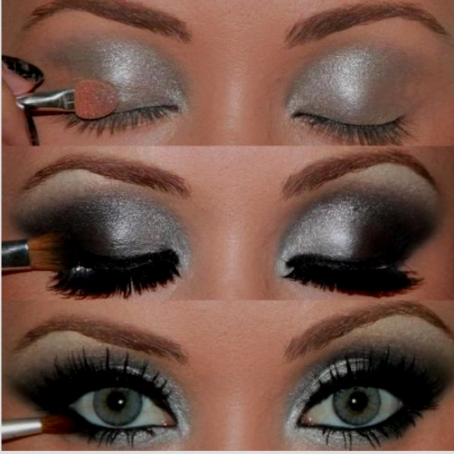 silver eyeshadow makeup pinterest silver eyeshadow