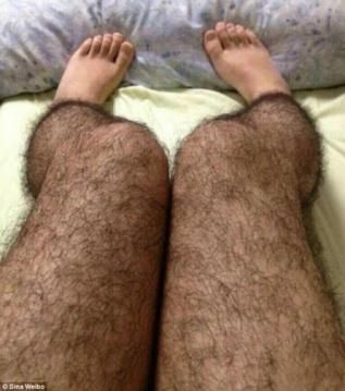 Hairy leg stockings are designed to help women ward off unwanted male attention.  XD