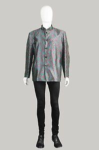 Vintage-60s-YVES-SAINT-LAURENT-Early-Rive-Gauche-Mens-Designer-Jacket-Nehru