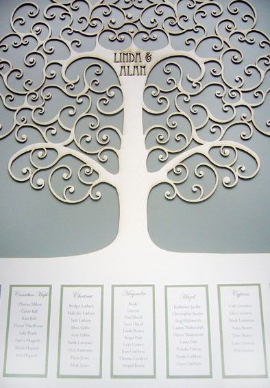 Wedding Invitations - luxury lasercut & origami invitations - Table Plan Gallery
