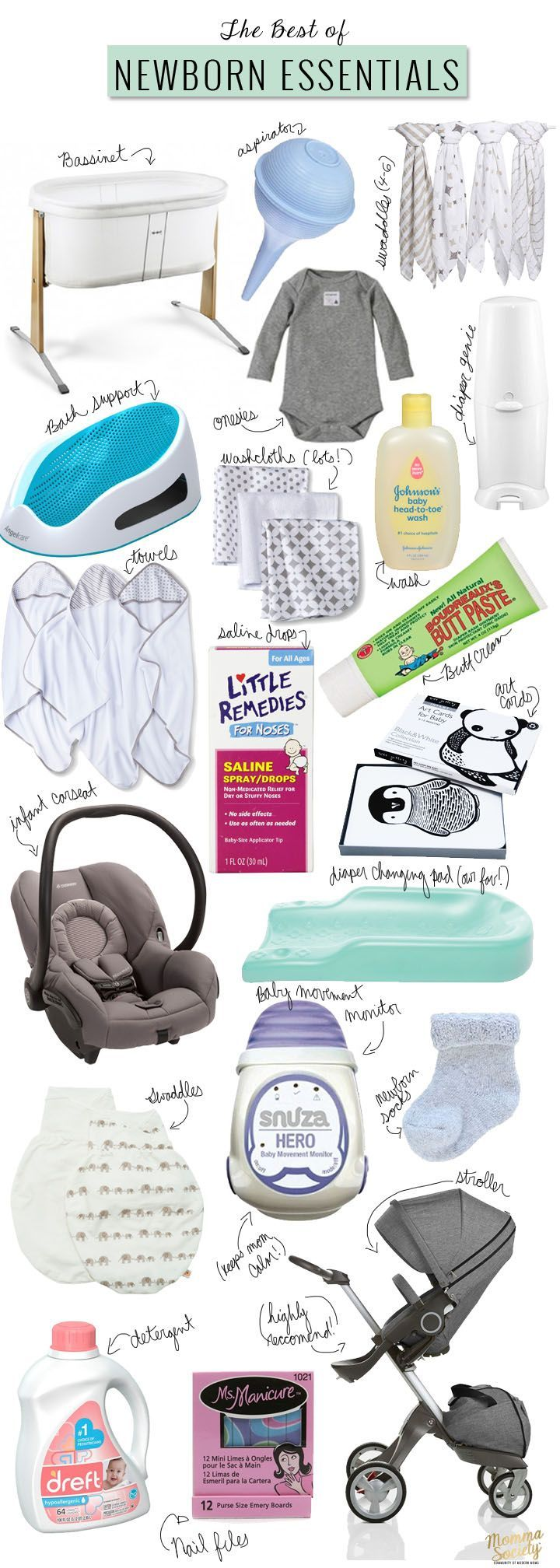 Newborn Essentials for Surviving the First Month of Motherhood | Momma Society- The Community of Modern Moms
