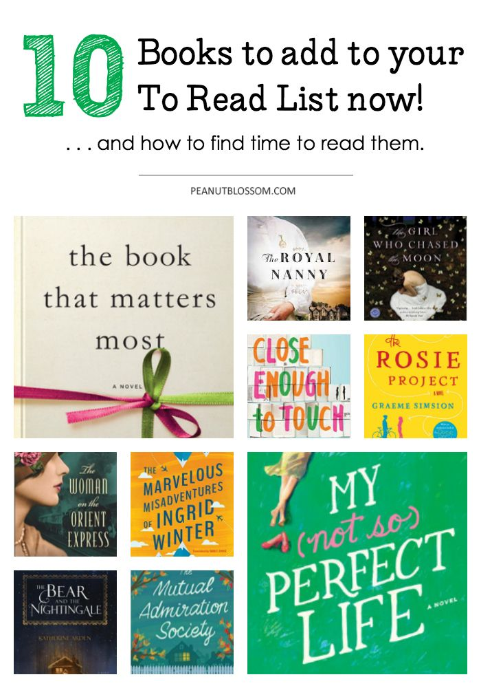 10 great books for busy moms. I'm so adding these to my summer reading list! Perfect beach or pool side books.