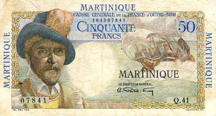 Billet de banque - Martinique - Pick 30 - 50 francs