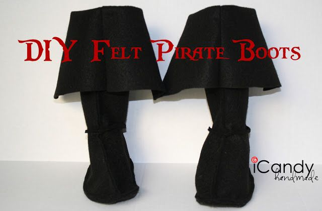 Semi-Homemade Pirate Costume: DIY Pirate Boots - iCandy handmade                                                                                                                                                      More