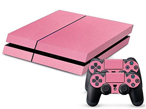 Eddie Internatioanl TM PS4 Console Designer Skin for Sony Playstation 4 Console System Plus Two 2 Decals For PS4 Dualshock Controller  Pink ** Check out this great product.Note:It is affiliate link to Amazon.