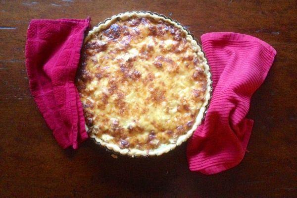Roasted cauliflower and caramelised onion tart.