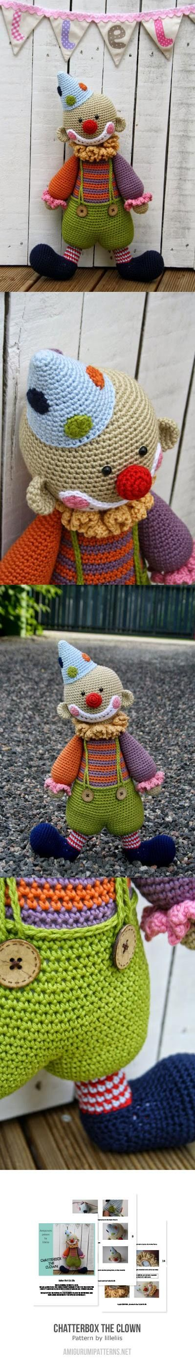 Chatterbox The Clown Amigurumi Pattern