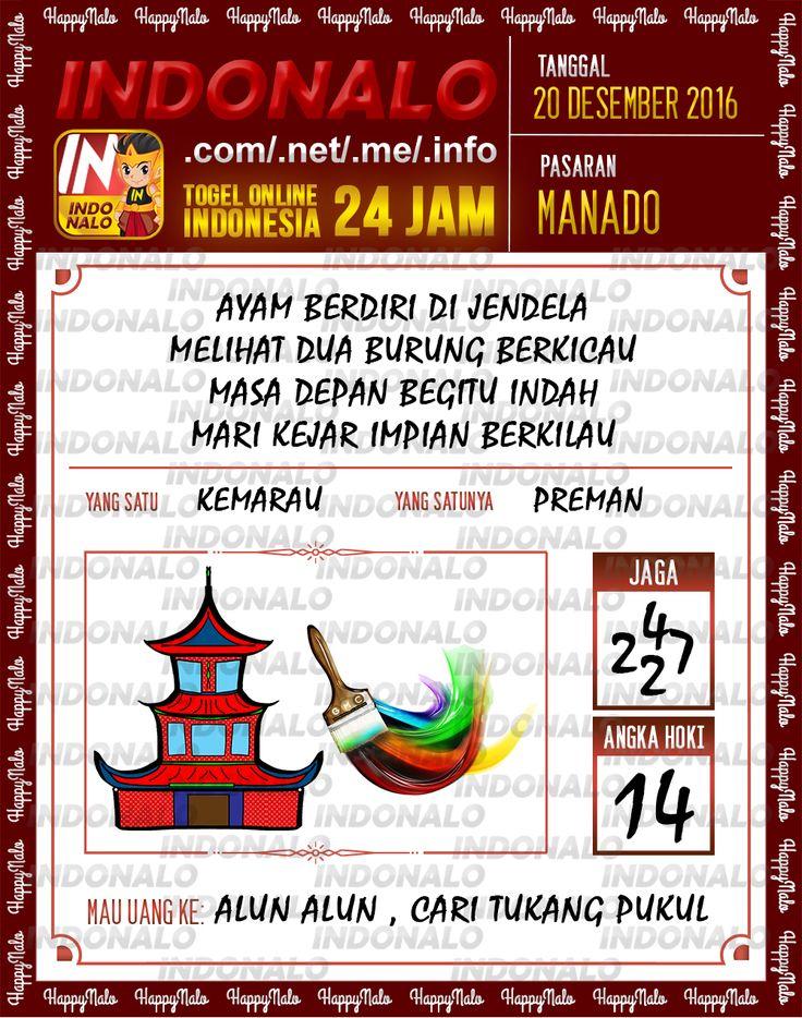 Undian Lotre 4D Togel Wap Online Live Draw 4D Indonalo Manado 20 Desember 2016