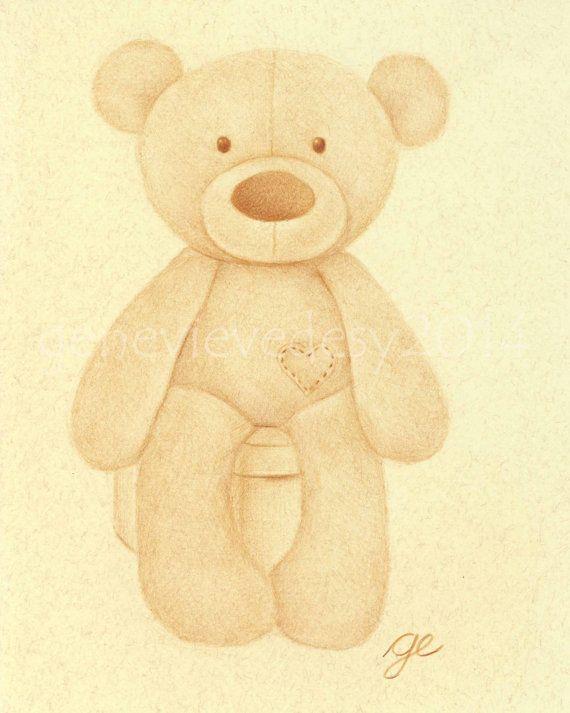 Reproduction d'un dessin d'ourson en peluche aux par MatanteGe