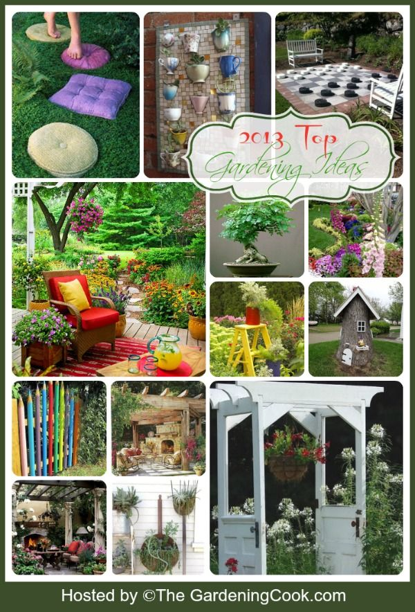 Dozens of creative gardening ideas.  My favorites from 2103