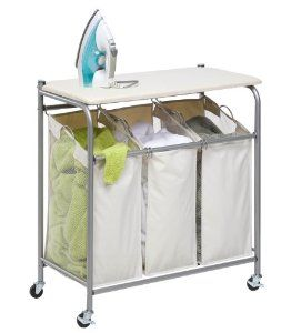 Amazon.com: Honey-Can-Do SRT-01196 Rolling Ironing and Sorter Combo Laundry Center: Home & Kitchen