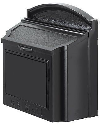 """Whitehall Wall Mount Locking Mailbox 16103 by Whitehall. $186.99. 14 1/2"""" w. x 15 1/2 h. """" x 7 3/8"""" deep. 11 1/2 lbs. Locking insert is removable if you don't want to use it.. Overall opening: 5"""" x 13"""". Mounting Hardware included.. Incoming Mail Slot: 12"""" x 1 1/2"""" (with locking insert). A new luxury mailbox of 100 powdercoated aluminum it'll last a lifetime. 20 larger than most premium mailboxes, it holds multiple days worth of mail, and now with a locking insert The..."""