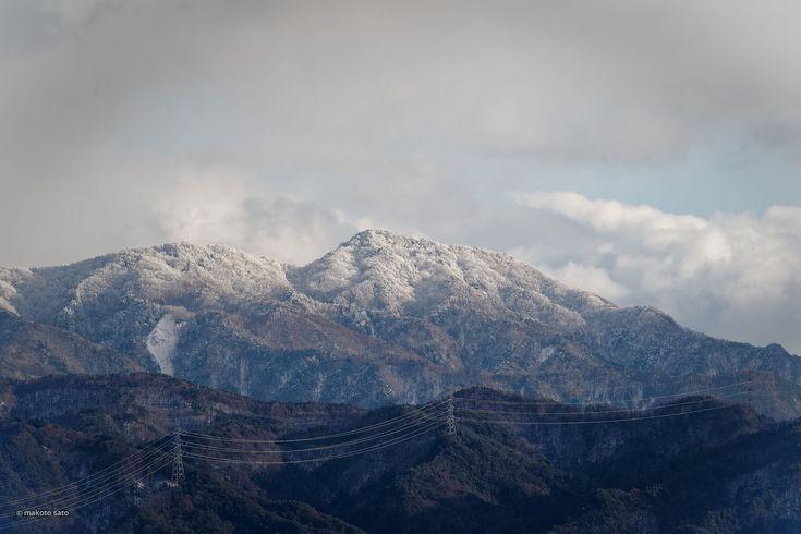 南アルプス南端の山々