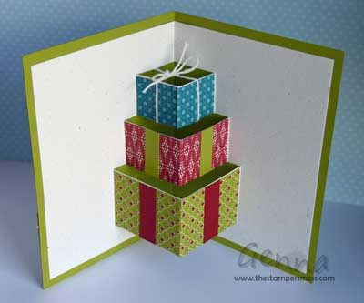 Выпрыгивающая открытка куб, необычная еда