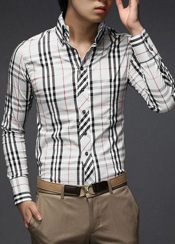 Turndown Collar Long Sleeve Skinny Shirt – teeteecee - fashion in style
