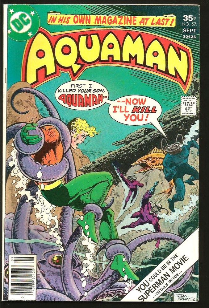 9 best aquaman images on pinterest aquaman comics and cartoon art aquaman 57 dc comics 1977 bronze age 1st print and series vf or better fandeluxe Image collections