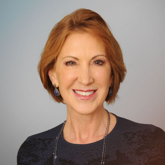 Carly Fiorina CARLY FIORINA IS A PASSIONATE, ARTICULATE ADVOCATE FOR CONSERVATIVE POLICIES THAT ADVANCE ECONOMIC GROWTH, ENTREPRENEURSHIP, INNOVATION, AND EFFECTIVE LEADERSHIP.