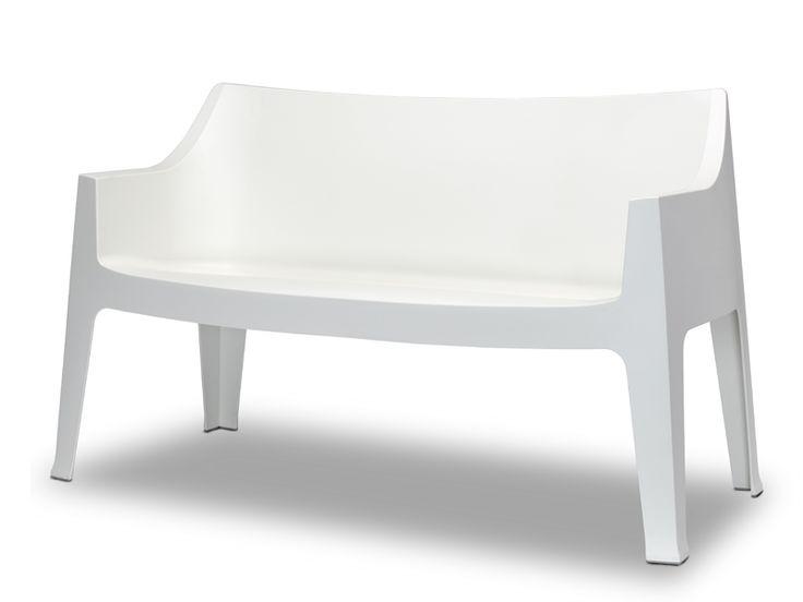 2 seater polypropylene garden sofa COCCOLONA Coccolona Collection by SCAB DESIGN