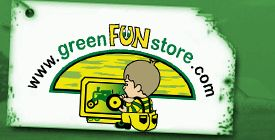 GreenFunStore is my original site. It went online in May of 2000. It has been revamped and tweaked many times over the years. The one thing that is a constant is the great John Deere product line.