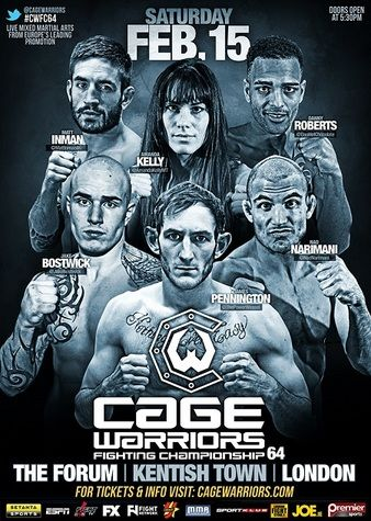 Cage Warriors 64 Fightcard
