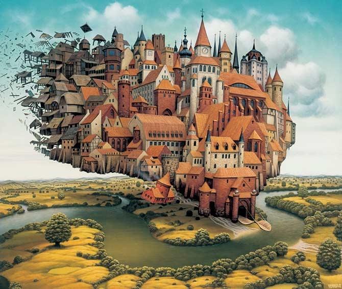 The Island of Vanishing Houses...