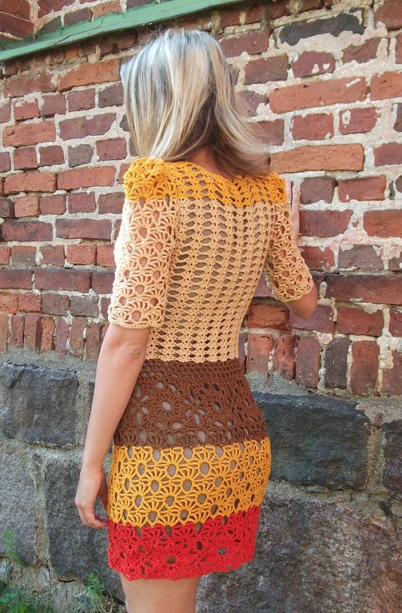 Crochet Pattern PDF Cinnamon Dress size S/M by ElevenHandmade