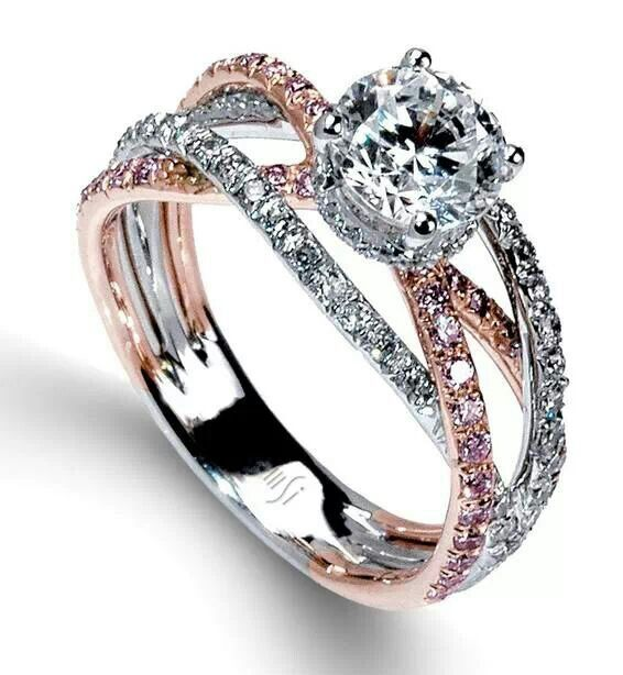 Rose Gold And Silver Entwined Ring