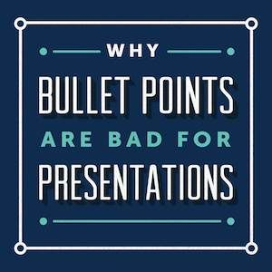 You've probably heard this advice before: Don't use bullet points in your presentations. Butdo you know why presentation design experts are so adamantly opposed to the bullet point format? Here's ...