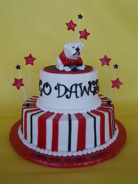 Go Dawgs Graduation Cakes