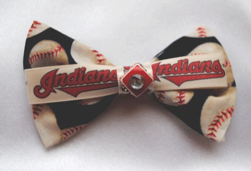 Check out All Things Crafty Cleveland Indians hair bows and other hair tie accessories!  www.allthingscrafty-atc.com