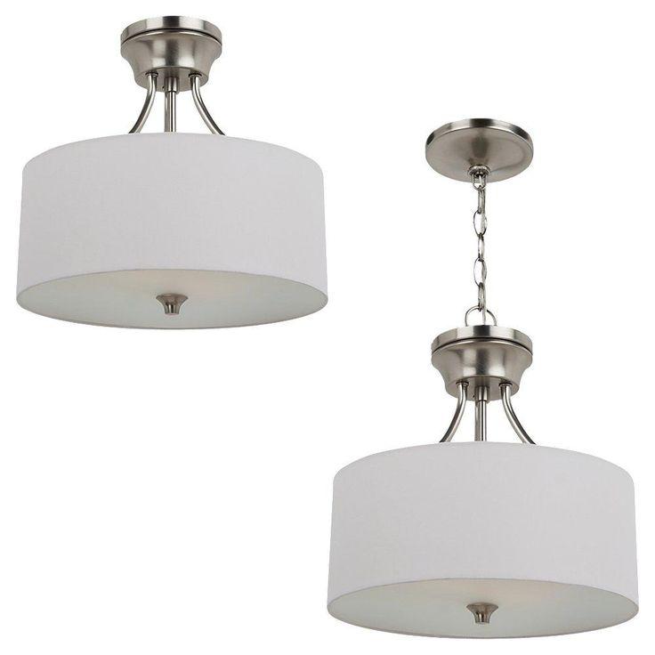 Sea gull lighting stirling two light semi flush mount 77952 ceiling lighting semi flush mount transitional