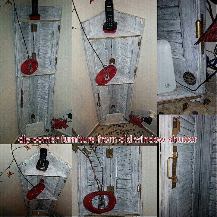 diy corner furniture from old window shutter